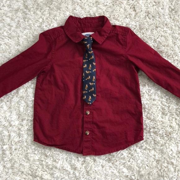 08e34498 Old Navy Shirts & Tops | Toddler Boy Long Sleeve Button Down Shirt ...